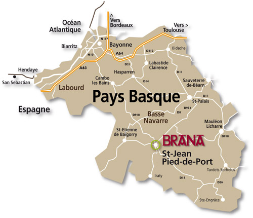 Carte du Pays Basque